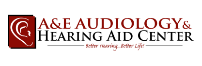 a & e audiology and hearing aid center logo