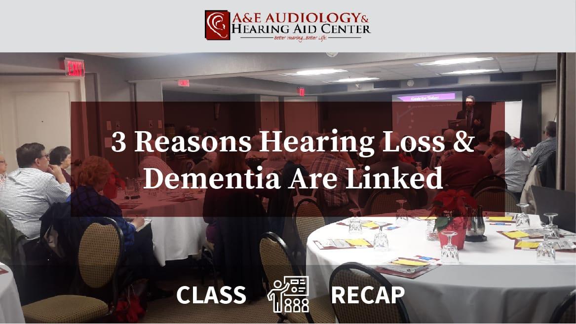 3 reasons for hearing loss strasburg pa